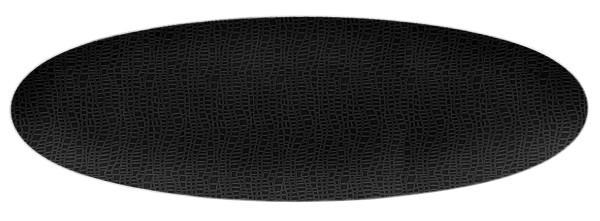 L Fashion glamorous black Servierplatte oval 44x14cm