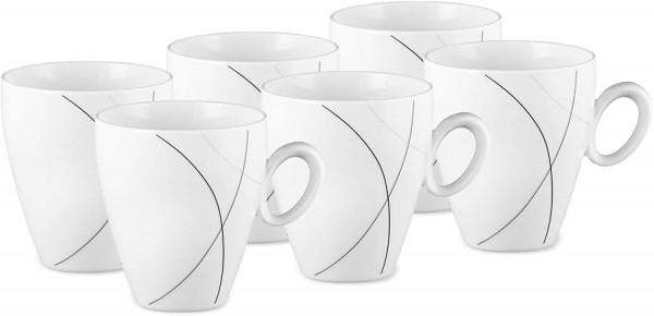 Seltmann Weiden Trio Highline Kaffeebecher-Set 6tlg.