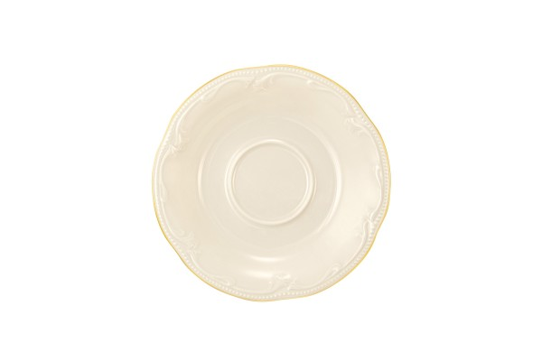 Rubin cream Goldrand Kombi-Untere 15 cm