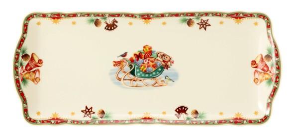 Marie Luise Weihnachtsnostalgie Kuchenplatte eckig 34,5x15cm