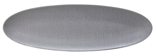 L Fashion elegant grey Servierplatte schmal 44x14 cm