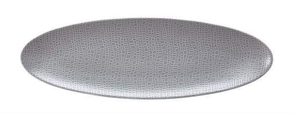 L Fashion elegant grey Servierplatte schmal 35x12 cm